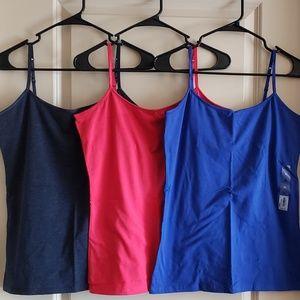 3 NWT SO shelf-bra camisoles size XL